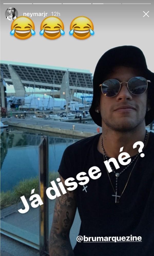 Neymar fez declaração de amor à Bruna Marquezine no Instagram (Foto: Reprodução/Instagram)