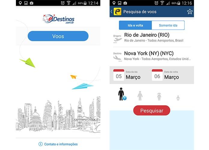 eDestinos é gratuito e tem plataforma para pesquisar passagens aéreas mais baratas (Foto: Reprodução/Barbara Mannara)