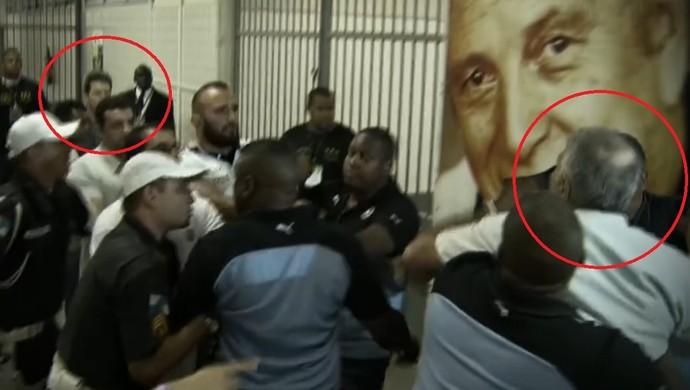 Mantuano Argel confusão Botafogo Figueirense (Foto: Reprodução SporTV)