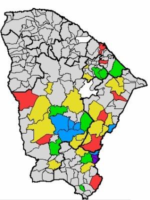 Chuvas forte ocorreram no Cariri, no Sul do Ceará (Foto: Funceme/Reprodução)