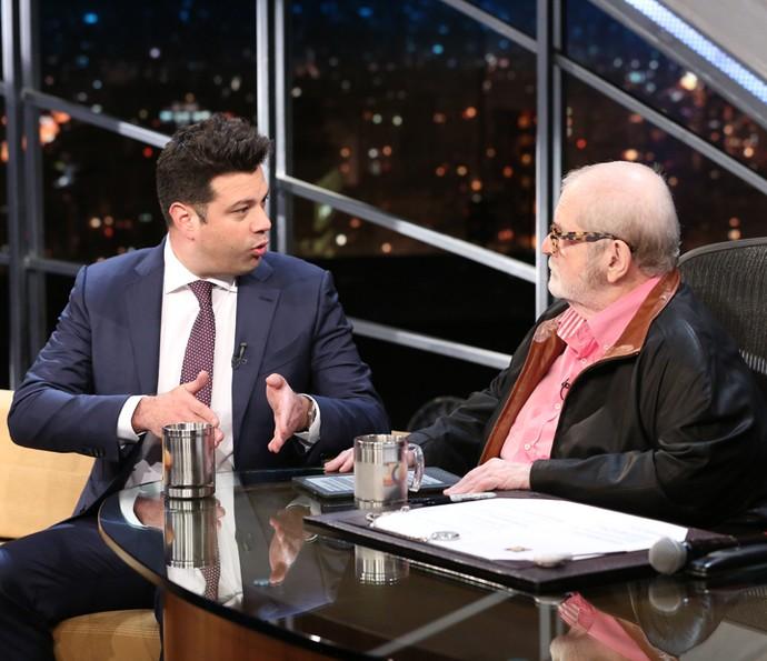 Jô Soares entrevista o ministro Leonardo Picciani (Foto: Carol Caminha/Gshow)