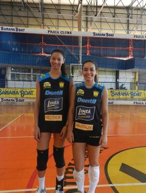 Fernanda Campos e Bruna Almeida, atletas do Praia Clube (Foto: Caio Nunes)
