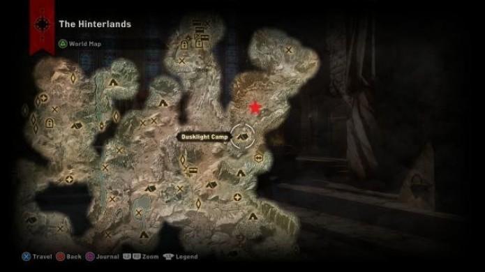 Localização do primeiro dragão em Dragon Age Inquisition (Foto: Reprodução/Alvanista)