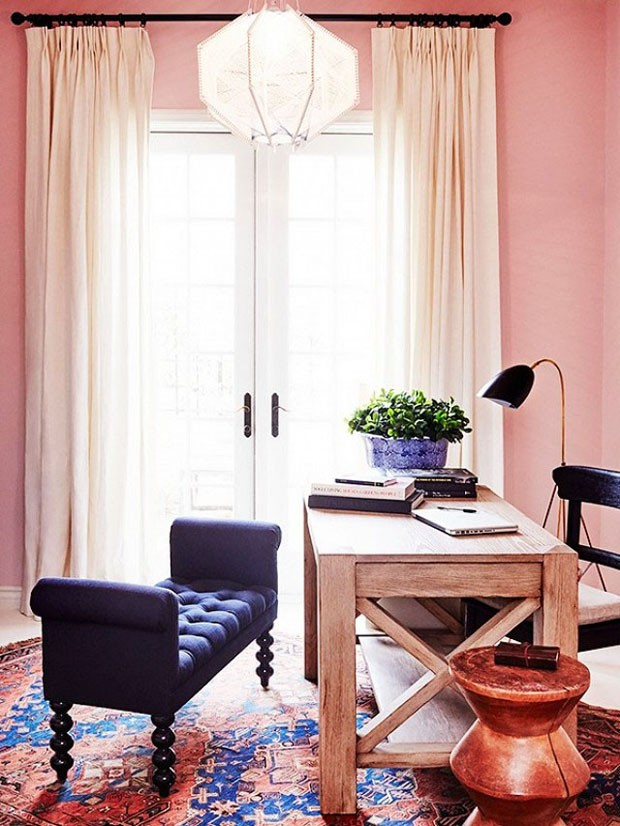 Décor do dia: home office com cores fortes (Foto: Justin Coit/My Domaine )