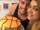 Rodrigo Godoy comemora aniversário com a mulher, Preta Gil