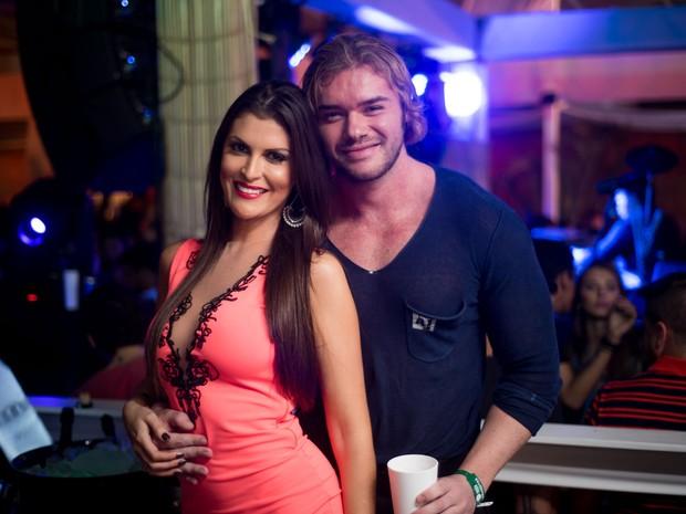 Thor Batista com namorada, Lunara Campos, em festa no Rio (Foto: Diego Batista/ Divulgação)