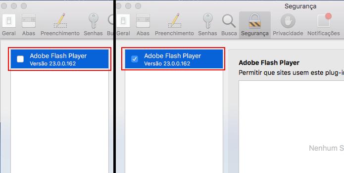 Ativando o Plug-in Flash no Safari (Foto: Reprodução/Edivaldo Brito)