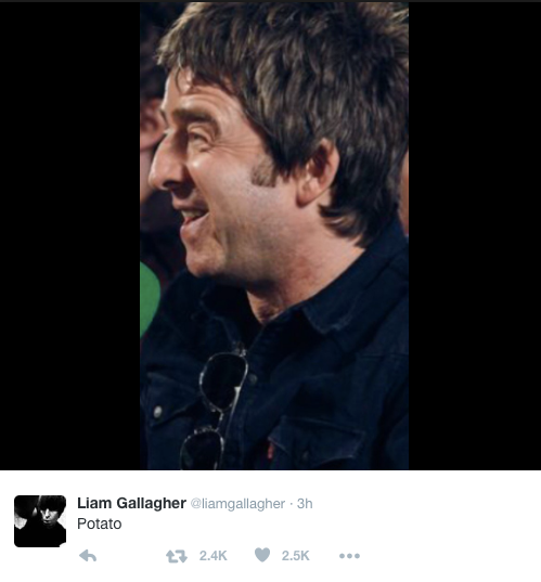 Liam Gallagher (Foto: Reprodução/Twitter)