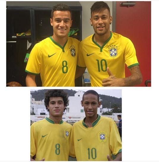 Neymar relembra o passado ao lado de Philippe Coutinho - Vogue   Gente d1c446481e