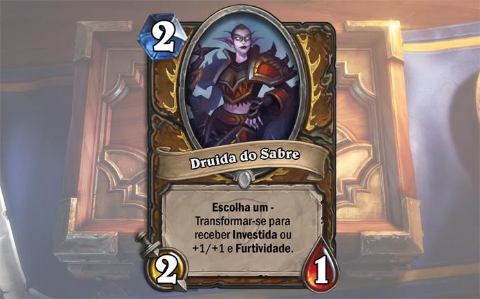 Hearthstone ganha a carta Druida do Sabre (Foto: Divulgação/Blizzard)