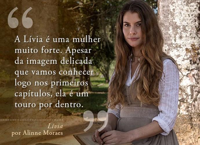 Lívia (Alinne Moraes) (Foto: Gshow)