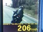 PRF flagra motociclista a 206 km/h na BR-060, entre Anápolis e Alexânia