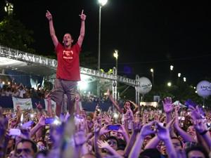 Público lotou a Praça Multieventos no Maceió Verão (Foto: Jonathan Lins/G1)