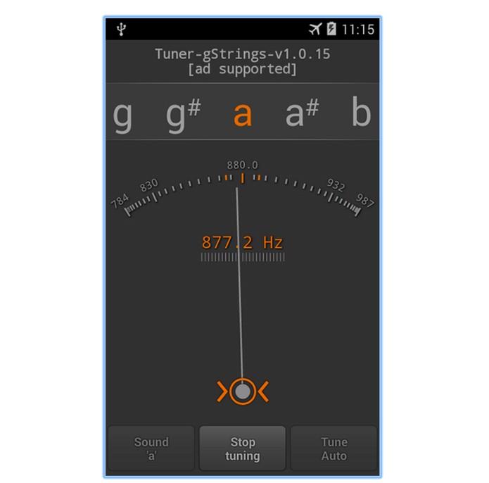 Tuner que permite afinar diversos instrumentos (Foto: Reprodução/André Sugai)
