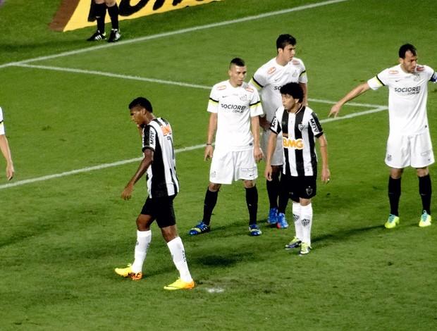 jogo Atlético-MG e Santos (Foto: Marco Antônio Astoni)