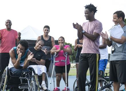 Wesley começa a treinar com sua nova cadeira de rodas
