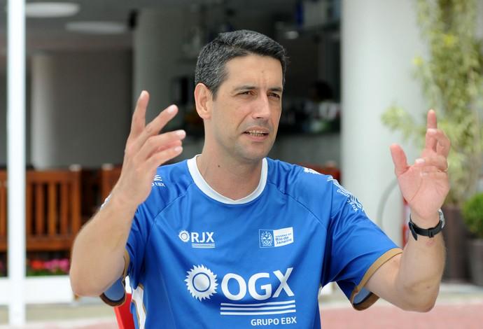 MARCELO FRONCKOWIAK TECNICO VOLEI RJX (Foto: André Durão/Globoesporte.com)