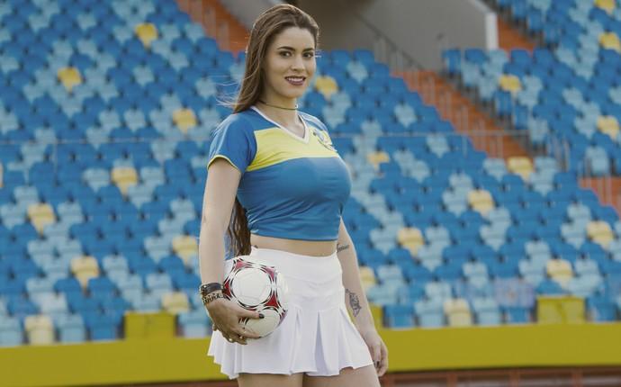 Sarah Caroliny é a representante do Iporá no concurso Musa do Goianão 2017 (Foto: Sebbá Ferreira)