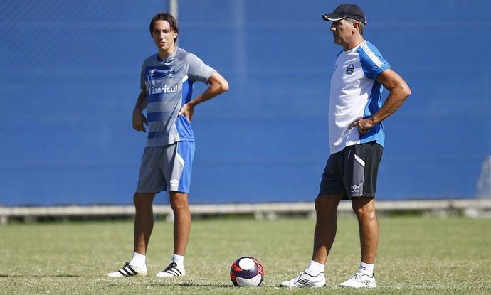 Pedro Geromel Grêmio Renato Portaluppi (Foto: Lucas Uebel/Grêmio)