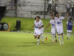 Geovani comemora o gol da vitória sobre o América-RN (Foto: Gabriel Peres/Divulgação)