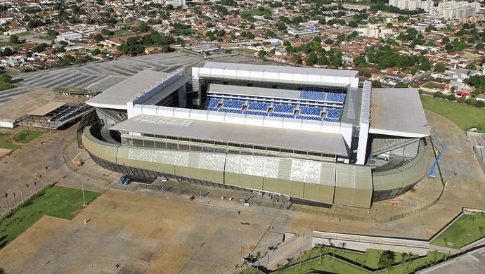 Arena Pantanal abril 2014 (Foto: Edson Rodrigues/Secopa-MT)