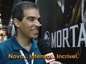 Ed Boon, criador de 'Mortal Kombat', na BGS 2014 (Foto: Reprodução/G1)