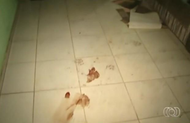 Diarista morta a facadas já havia feito queixa contra o marido, em Vianópolis, Goiás (Foto: Reprodução/TV Anhanguera)