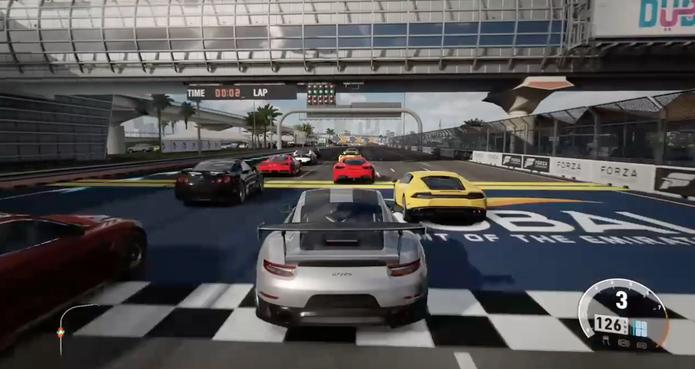 Multiplayer de Forza 7 apresenta problemas (Foto: Reprodução / Diego Borges)