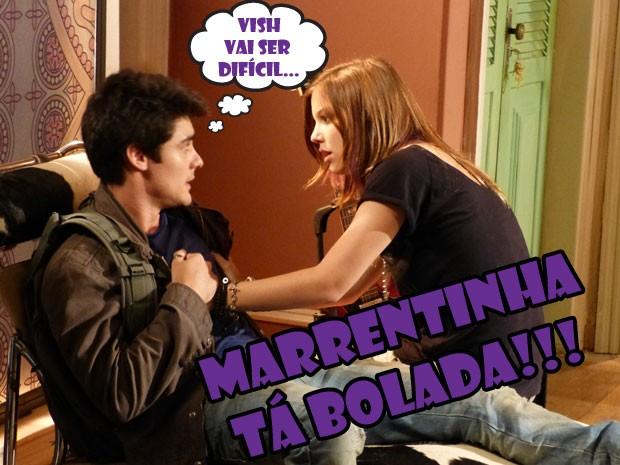 Só que a marrentinha não vai engolir esse fim de namoro não! Ela vai lutar pelo Vitinho (Foto: Malhação / Tv Globo)