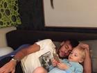 Neymar aproveita tempo livre com Davi Lucca: 'Hora de dormir'