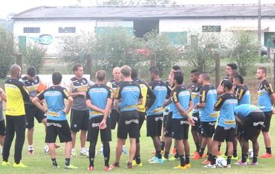 Treino Botafogo Nova Veneza-SC (Foto: Fred Huber)
