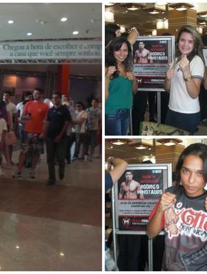 Minotauro recebe fãs em shopping de Fortaleza (Foto: Thaís Jorge)