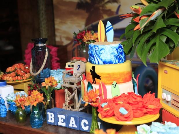 Decoração do aniversário de Francisco Vitti (Foto: Anderson Barros / Ego)