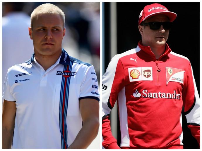 Bottas teve o desejo de ir para a Ferrari adiado após renovação do compatriota Raikkonen (Foto: Montagem sobre fotos da Getty)