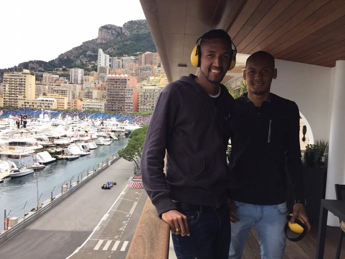 Wallace e Fabinho circuito Fórmula 1 Monaco (Foto: Arquivo Pessoal)