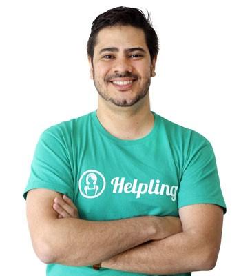 Eduardo Küpper, executivo no Brasil da Helpling, que funciona como 'Airbnb para serviços domésticos'.