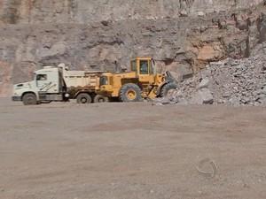 O município de Nobres (MT) tem 9 fábricas de calcário (Foto: Reprodução/TVCA)