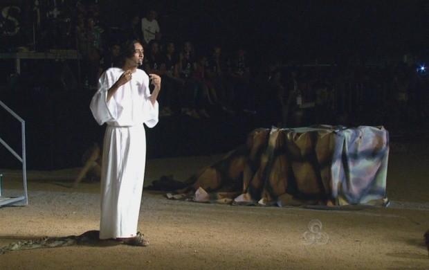 Encenação da Paixão de Cristo atraiu milhares de pessoas (Foto: Roraima TV)