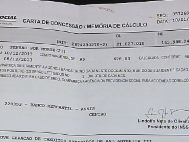Criminosos sacam benefícios da previdências com documentos falsificados (Foto: Reprodução/TV TEM)