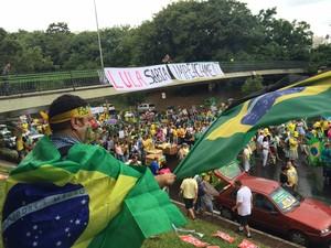 Manifestantes pede por impeachment em Porto Alegre (Foto: Felipe Truda/G1)