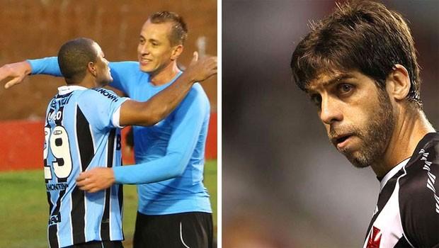 Futebol 2012 (Foto: Fotos: Lucas Uebel/Grêmio FBPA e Marcelo Sadio/Site Vasco da Gama)