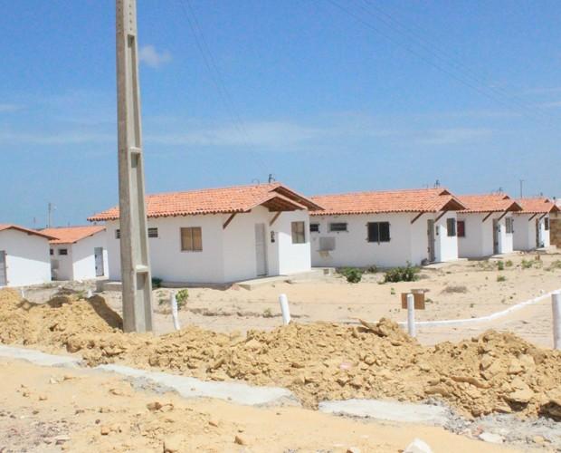 Casas do Residencial Raul Bacelar, do Programa Minha Casa Minha Vida (Foto: Patrícia Andrade/G1)