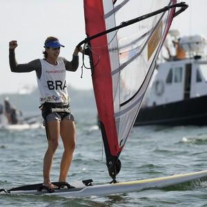 Patrícia Freitas ganhou medalha de ouro na classe RS:x (Foto: Nathan Denette/Canadian Press via AP)