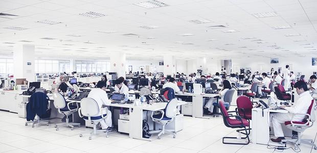 Escritório da fábrica da Honda em Sumaré (Foto: Marcos Camargo)
