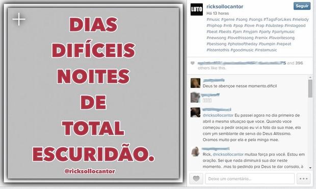 Cantor Rick  (Foto: Instagram / reprodução)