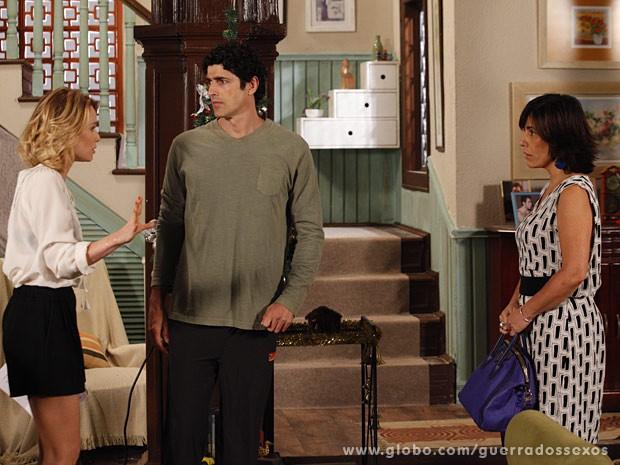 Nando terá que escolher entre Juliana e Roberta (Foto: Guerra dos Sexos/TV Globo)