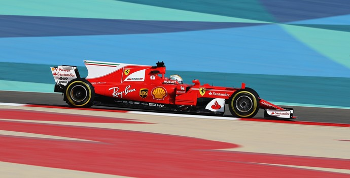 Sebastian Vettel Ferrari Fórmula 1 2017 GP do Bahrein (Foto: Getty Images)