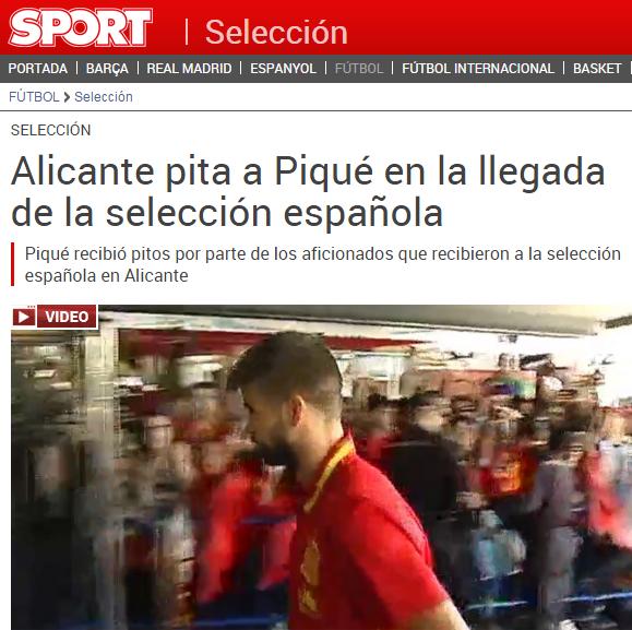 BLOG: Piqué é vaiado por torcedores ao chegar com a seleção espanhola em Alicante