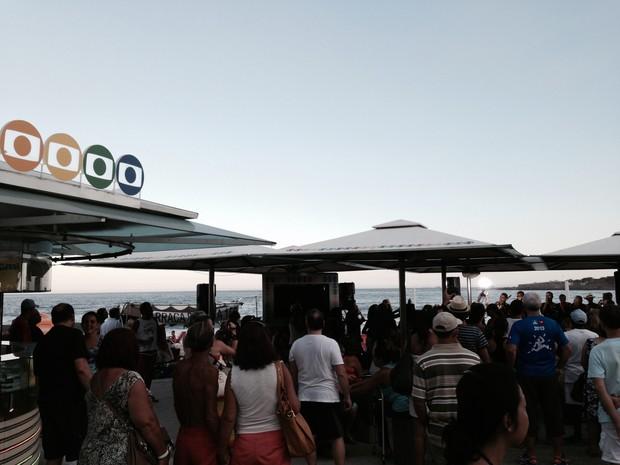 Quiosque da Globo recebeu bom público em show do Cordão da Bola Preta (Foto: Fernanda Rouvenat/ G1)