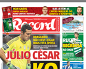 De molho, Julio César deve seguir fora do Benfica na reta final do Português